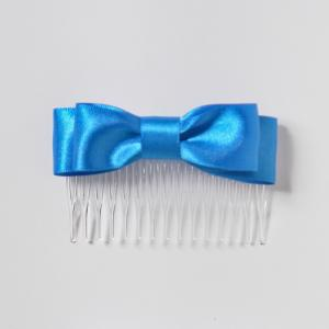 Satin Bow with Comb