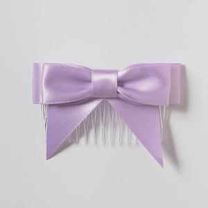 Satin Bow with Comb & Tail